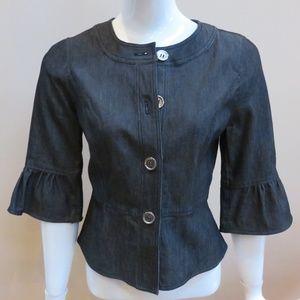 Denim Bell Sleeve Button Jacket